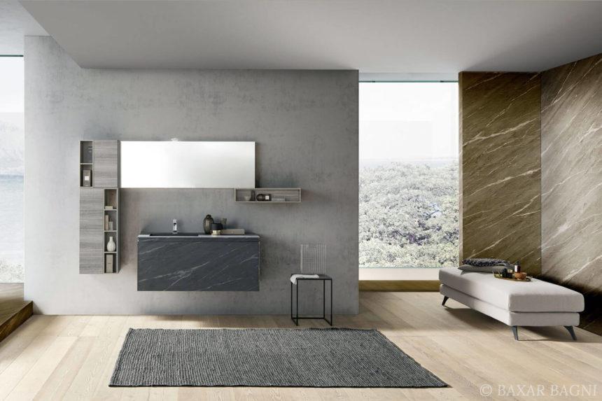Le marbre dans la salle de bains