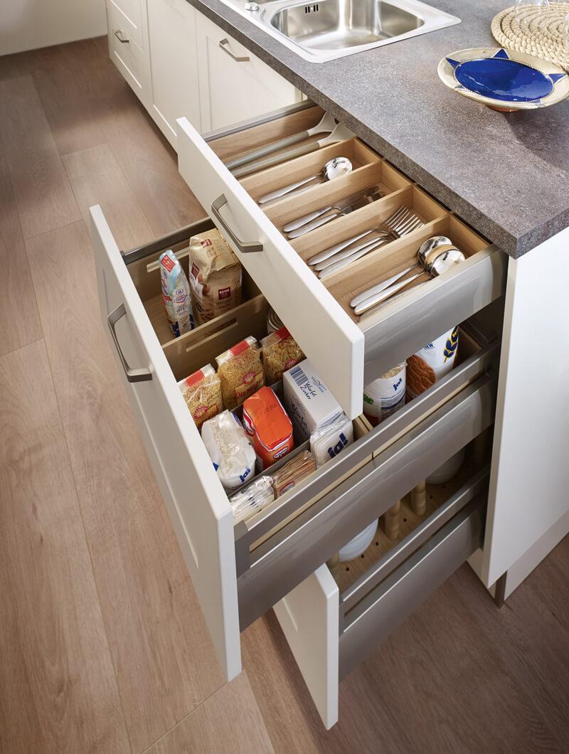 inspiration cuisine comment organiser ses tiroirs ai cuisines. Black Bedroom Furniture Sets. Home Design Ideas