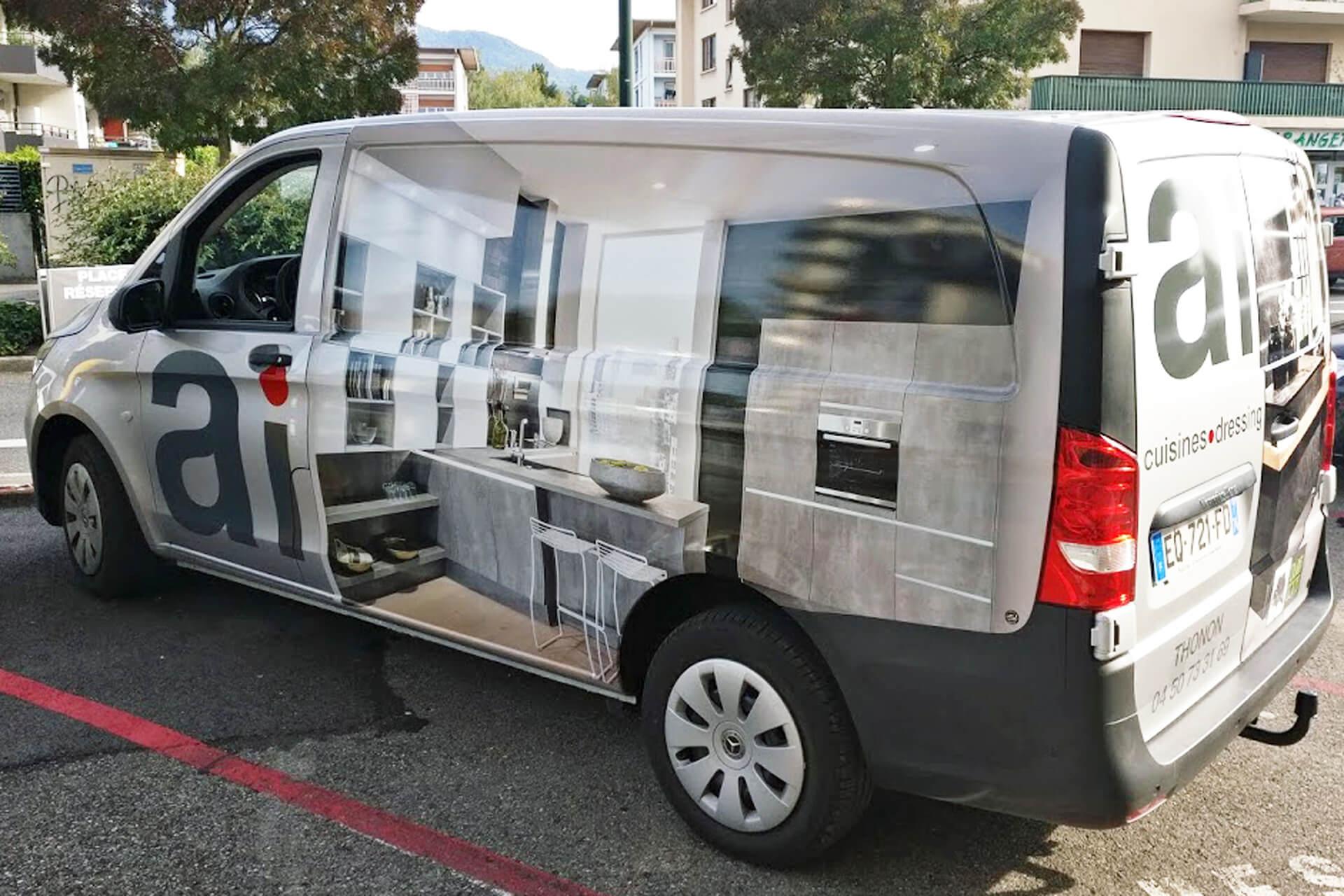 Un nouveau camion de pose pour ai cuisines thonon les bains for Ai cuisine thonon