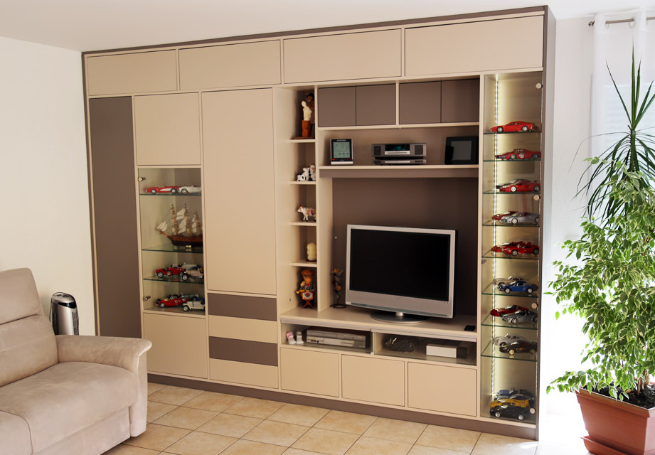 meuble tv sur mesure ai cuisines thonon les bains. Black Bedroom Furniture Sets. Home Design Ideas