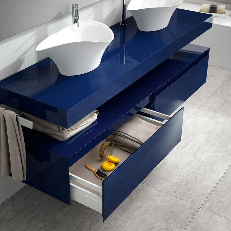 Best salle de bain bleu nuit pictures awesome interior home satellite - Magasin de meuble thonon les bains ...