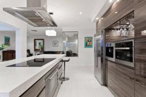 luminaire dans une cuisine