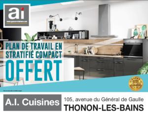La promotion du mois le plan de travail offert ai for Ai cuisine thonon