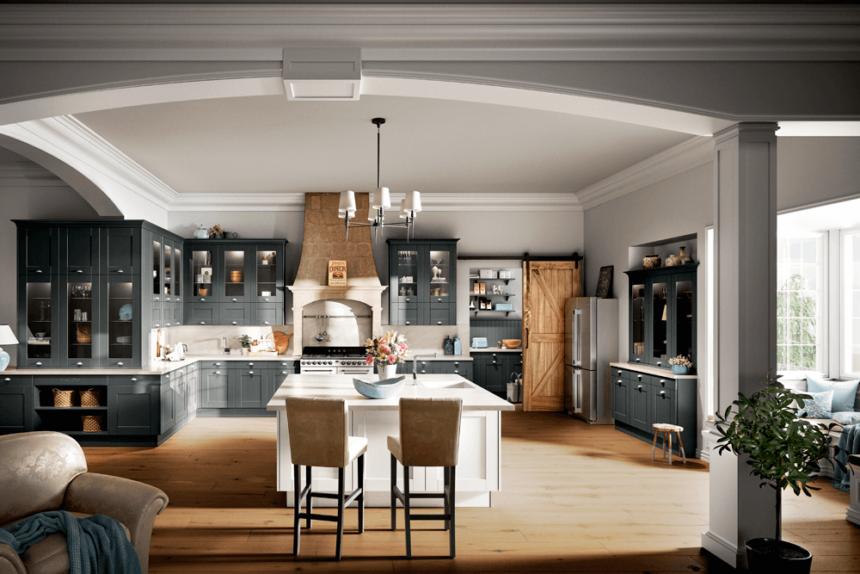 Photothèque : une cuisine qui allie le noir et le bois