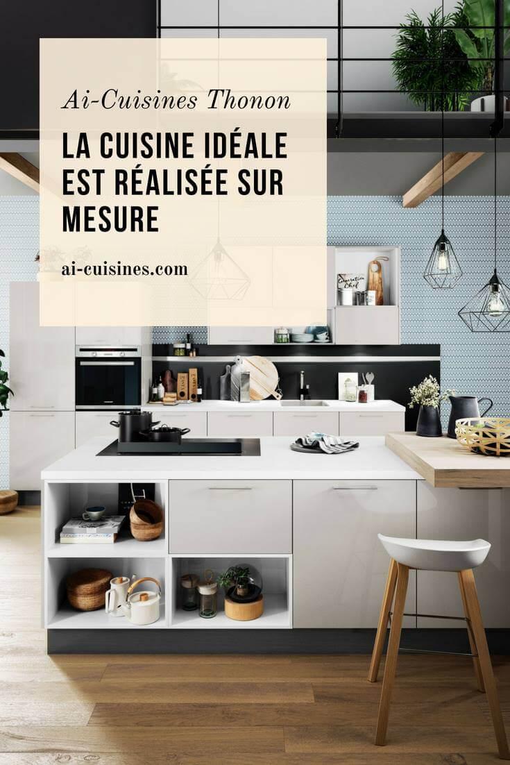 La cuisine idéale est réalisée sur mesure