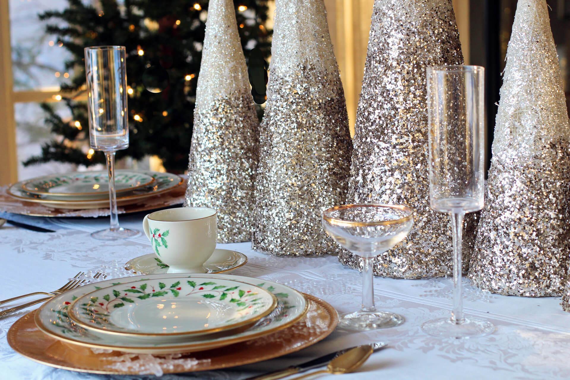 table pour les fêtes